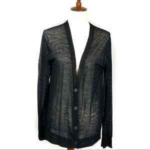 Alexander Wang Boyfriend V Neck Sheer Cardigan M